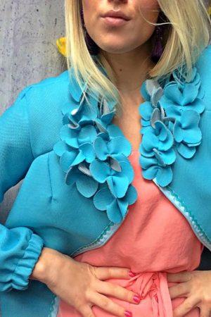 flower bomber jacket ELINA