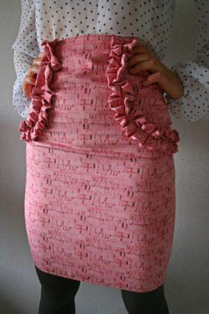 rozā svārki loreta