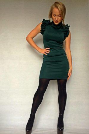 smaragda krāsas kleita viktorija
